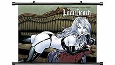 Lady Death Wall Scroll Ortiz Sexy Pin up Style print Fantasy art, magic, dragon