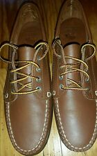 NWOT G.H. BASS & CO. BROWN LEATHER BOAT SHOES OUTDOOR SZ 7S SLIM NARROW WOMEN'S