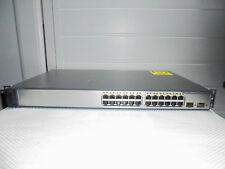 Cisco Catalyst WS-C3750V2-24PS-S 24 Port PoE Switch. CCNA, CCNP