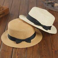 New Beach Hat Female Panama Hat Women Bow-knot Straw Cap Girls Sun Hat Wide Brim