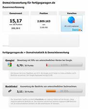 Attraktive Domain: fertigeGaragen.de