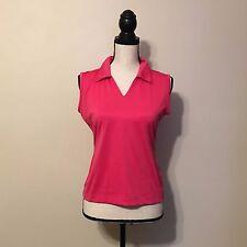 Nike Golf Pink Collared Tank Shirt SIZE SMALL