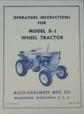 Allis Chalmers B-1 Garden Tractor & Implements Owner & Parts (6 Manuals) 82pg
