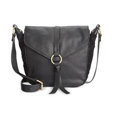 Nanette Lepore Aspen III Leather Suede Adjustable Crossbody Flap Hobo Handbag, B