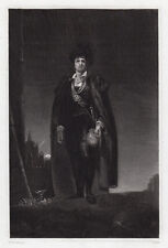 """Sir Thomas Lawrence 1800s Antique Engraving """"Kemble as Hamlet"""" SIGNED Framed COA"""