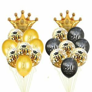 1set 30th Birthday Balloon Decor 30 40 50 60 Years Baloon Numbers Party Supplies