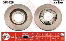 TRW Juego de 2 discos freno 257mm ventilado HYUNDAI COUPE LANTRA DF1428