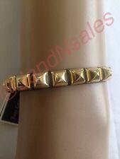 Juicy Couture Black Skinny Leather Pyramid Bracelet YJRU7130