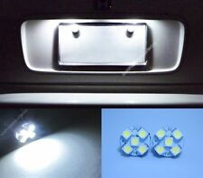 2x White LED License Plate Light T10 168 194 2825 w5w Number Plate Bulbs