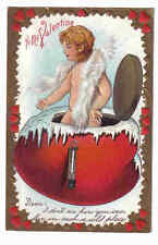 Cherub white Boa in Red Pot with Icicles Valentines Day