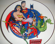 DC SUPER HEROES SERIES JUSTICE LEAGUE AMERICA COLLECTOR PLATE statue Maquette
