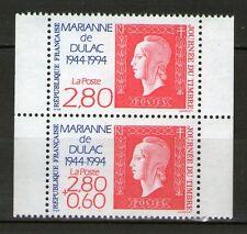 PAIRE DE TIMBRES P2864A NEUF XX - LA MARIANNE DE DULAC A 50 ANS