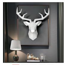 Deer Head Wall Sculpture Home Decoration Stag 3D Art Statue Antelope