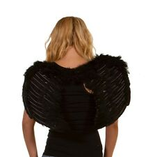 5 PACK OF LUXURY BLACK FEATHER WINGS  BLACK ANGEL WINGS DEVIL WINGS  BLACK