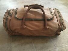 💼 TUMI COLUMBIAN ULTRA RARE VINTAGE LEATHER ZIP CARRY ON WEEKEND DUFFEL BAG