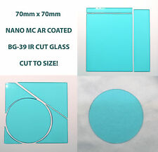 Custom sizeAR coated 75mm x75x0.9mm Schott BG-39 Hoya CM-500 IR Cut color filter