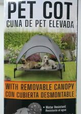 """SolarTec Pet Dog Cot With Removable Canopy Large 175lb Capacity 42"""" X 30"""""""