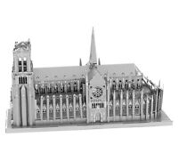 Fascinations ICONX NOTRE DAME de PARIS 3D Metal Earth Steel Laser Cut Model Kit
