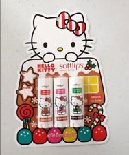 New X3 Softlips Hello Kitty Gingerbread, Apple Cider, Cherry Lip Balm Limited