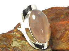Pink  CHALCEDONY   Sterling  Silver  925  Gemstone  RING  -  Size N