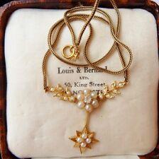 Antico Vittoriano Diamond & Reale Collana di perle in 18 Kt SOLID GOLD C1890 Qualità