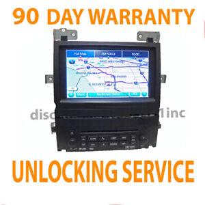 GMC GM Chevy Chevrolet Cadillac Navigation GPS Radio Unit UNLOCKING SERVICE VIN
