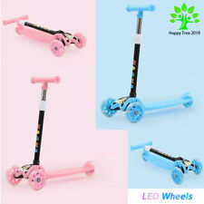 Kids Scooter Deluxe  3 Wheel LED Glider Folding Kick Scooter For Kids Gift