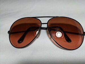 Vtg Serengeti Drivers 5222L Aviator Sunglasses Brown
