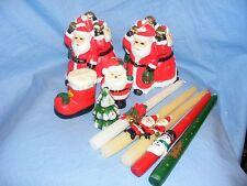 Christmas Candles Figural Santa And Snowmen Tree Boot Decorations