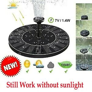 Bird Bath Solar Fountain Powered Water Pump Floating Outdoor Pond Garden Pool