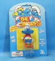 SUPERMAN Schlumpf aufziehbar Wind up smurf 3.Serie IMPS 1996 Toy Island MiB OVP