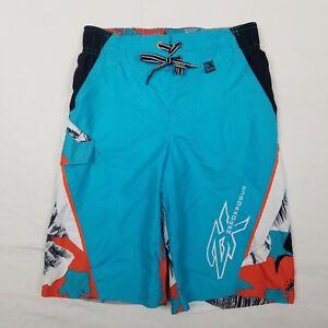 ZeroXPosur Swim Board Shorts Boys Size 8 OCEAN Tropical Mesh Lined NWOT