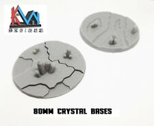 3D Printed - 80mm Scenic Crystal Cluster Style Bases - 2 Styles