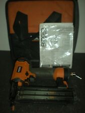 "Ridgid R213BNE 18-Gauge 2-1/8"" Brad Nailer Nail Gun Air Power Tool w/ Case #20.A"