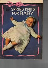 Spring Knits for Baby - 1972 Womens Weekly lift out -  knit & crochet patterns
