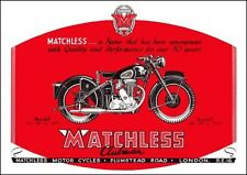 1950 Matchless G3/L 347cc & G80 498cc motorcyces poster