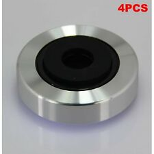 4pcs Silver Aluminum Feet Pad For Guitar Amplifier Speaker DAC CD Player