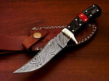 Rody Stan HAND MADE DAMASCUS SKINNING HUNTING KNIFE -  FULL TANG - PW-4538