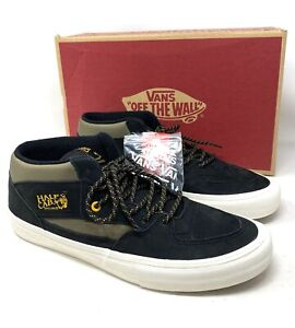 VANS Half Cab Pro Surplus Black Military Suede Men`s Sneakers Size VN0A38CP0QG