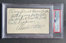 Charles Atlas Signed 3x5 Card PSA Authenticated Early Bodybuilder Excercise