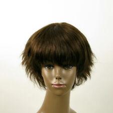 Perruque afro femme 100% cheveux naturel châtain ref SHARONA 04/6