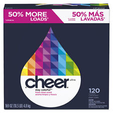 Cheer Powder Laundry Detergent Fresh Clean Scent 169oz Box 2/Carton 84929