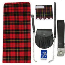 Vêtements traditionnels rouge pour hommes