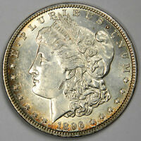 1896 MORGAN SILVER DOLLAR PL ~ SHARP AU ABOUT UNCIRCULATED PROOF LIKE! (INV#47A)