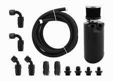 Performance Engine Oil Catch Can & Hose Kit AN8 for Ford Territory Falcon Black