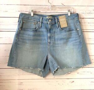 NWT MADEWELL Plus Size 14W 14 Curvy The Perfect Jean Shorts Denim Baylis Blue