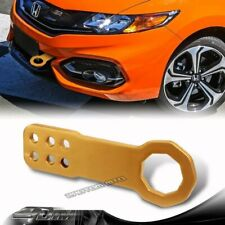 """2"""" JDM Anodized CNC Billet Aluminum GOLD Front Bumper Racing Tow Hook For Chevy"""