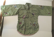 Vintage EMBROIDERED SILK Chinese ROBE JACKET child size