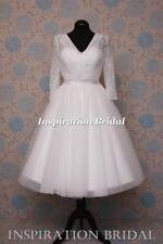 Boat Neck Plus Size Long Sleeve Wedding Dresses