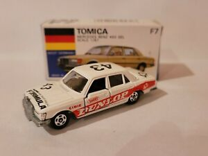 TOMICA F7 - MERCEDES BENZ 450SEL [WHITE] NEAR MINT VHTF BOX GREAT MADE IN JAPAN